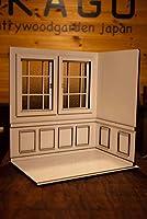 1/6スケールドールハウス白い窓の部屋右側