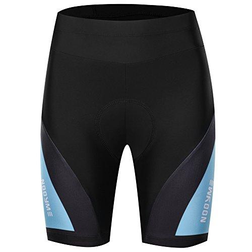 NOOYME Padded Bike Shorts Women 3D Padding Bicycle Womens Cycling Shorts (Medium, Tuiquoise)