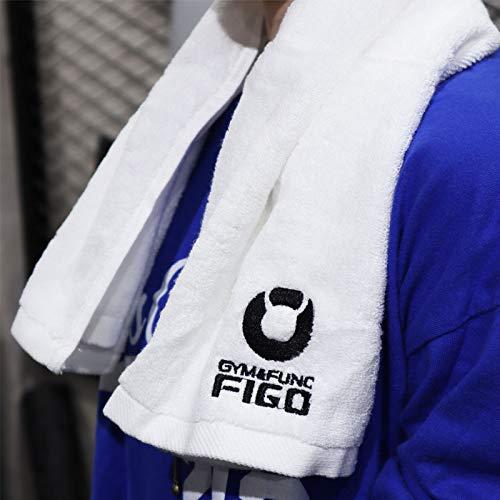 FIGOスポーツタオル75×35cm【1枚入】綿100%肉厚超吸水ジム用