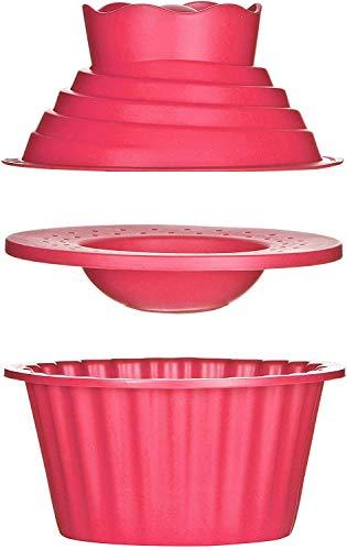 ALHX Molde de silicona para Tartas, Gigante para Magdalenas 3d Moldes, cocina Hornear, Juego de accesorios de repostería (3 unidades)