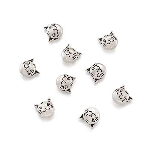 10pcs//Bulk Silver Acier inoxydable Loose Spacer Beads À faire soi-même Making Craft Findings
