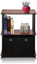 Furinno 99152DC/BK/BK Go Green 3-Tier Multipurpose Storage Shelf with Bins, Dark Cherry/Black