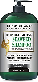 Seaweed Shampoo 16 fl oz, Daily Anti Hair loss, Hydrating, Detoxifying, Volumizing