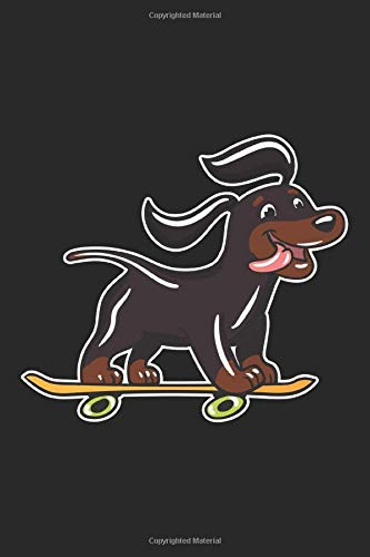 Skateboard Dog: 6x9 Ruled Notebook, Journal, Daily Diary, Organizer, Planner