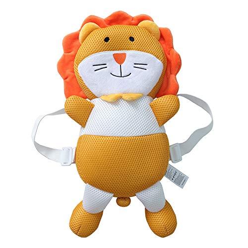 Baby Kopfschutz verstellbarer Sicherheitskissen für Baby Kopf Nacken und Schulter vor Kopfverletzungen beim Krabbeln und Lauflernen geeignet für die Babys Kleinkinder von 4-24 Monate (Orange Löwe)