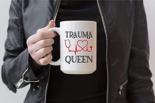 NA Trauma Queen Taza De Café Drama