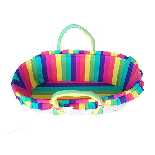 G-Moses Baskets GOUO@ Panier De Bébé De Moïse, Panier De Décharge De Bébé/Panier De Bébé De Paille/Berceau/Lit De Princesse Dormant De Voiture/Accessoires De Jardin d'enfants De Studio