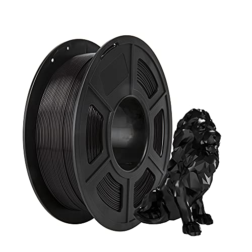 PLA Filament, PRINSFIL Filament PLA 1.75 mm, Filament-3D-Druckmaterialien, 1 kg 1 Spool, Jet Black