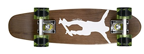 Ridge Skateboards Maple Mini Cruiser- NR1 Skateboard, Chiaro/Verde