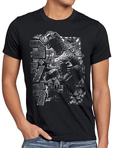 style3 Nippon Monster Herren T-Shirt Japan Tokyo Nippon, Farbe:Schwarz, Größe:4XL