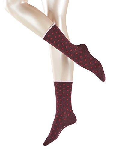 ESPRIT Damen Socken Melange Dot - Baumwollmischung, 1 Paar, Rot (Barolo 8526), Größe: 39-42