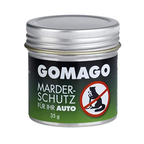 GOMAGO Marderschutz für Ihr Auto | zuverlässige und artgerechte Mardervergrämung durch Duftstoff | Granulat [1 x 35g]