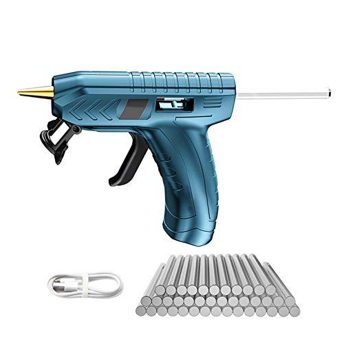 Mini pistolet à colle chaude sans fil, kit avec 40 bâtons de colle, recharge USB, pistolet à colle haute température pour réparation à la maison, arts, travaux manuels, bricolage et scellage