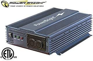 Power Bright APT1200-12 Pure Sine Power Inverter with Automatic transfer 1200 Watt continuous / 2000 watt Peak 12 Volt ETL Approved under UL/CSA Standards