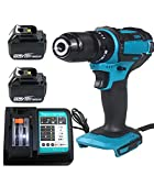 Cordless Impact <span class='highlight'>Drill</span> <span class='highlight'>Driver</span> <span class='highlight'>18V</span> Electric Combi <span class='highlight'>Drill</span> with DC18RC Charger and 2 Pack 5500mAh Batteries for Makita Power Tools Set