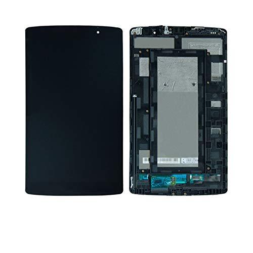 Kit de repuesto de pantalla para LG G PAD VK815 VK-815 LTE Verizon Touch Screen Digitzer LCD Display Assembly Kit de reparación de pantalla de repuesto (color negro).