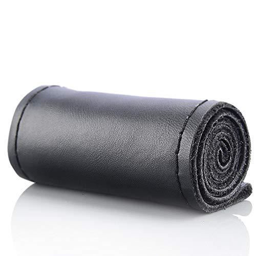 Funda de volante de cuero auténtico para coser a mano, distintos tamaños de 36, 38, 40, 42, 45, 47 y 50 cm