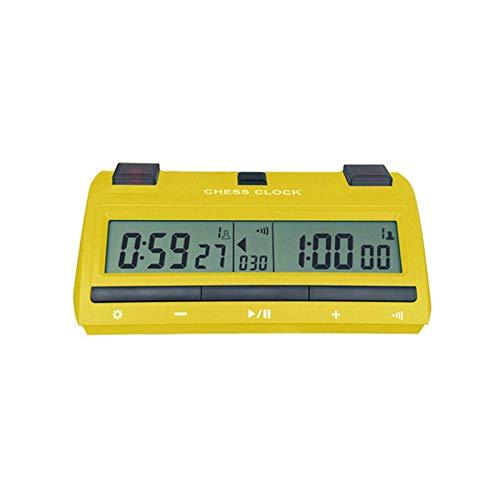 YaGFeng Reloj De Ajedrez Tabla de ajedrez de ajedrez del ajedrez de la Competencia de la Placa Digital multifumante Temporizador de Alarma electrónica Adecuado para La Decoración del Hogar