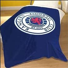 Rangers Large Glasgow FC Fleece Bed Blanket Throw