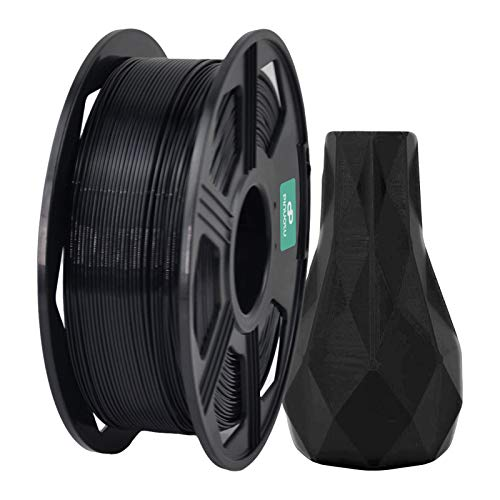 Pinuotu 3D Printer Filament, ABS Filament 1.75mm 1KG (2.2 lbs) Spool, Dimensional Accuracy +/- 0.03 mm, 100% Europe Raw Material (Black)