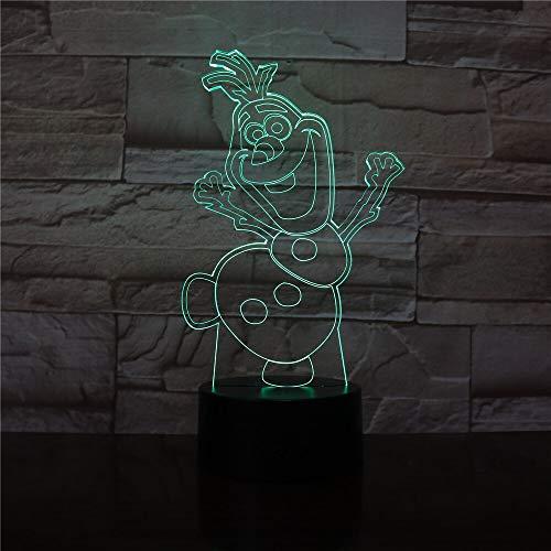3D Nachtlicht Schneemann Nachtlicht Kinder Schlafzimmer Dekoration Atmosphäre Schöne Baby LED Nachtlicht
