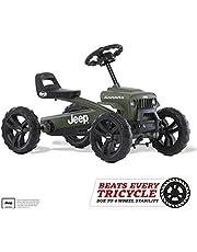 BERG Gokart pojazd dziecięcy z em z optymalną stabilnością Jeep Buzzy Sahara, Green, zabawka dla dzieci w wieku 2-5 lat
