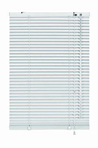 erfal Aluminium-Jalousie Wand- und Deckenmontage, inklusive Montage-Teile, Alu-Jalousie für Fenster und Türen B = 100 cm x H = 240 cm weiß