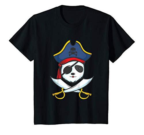 Kinder Piratenkostüm mit Freibeuter Panda für einen Piraten T-Shirt