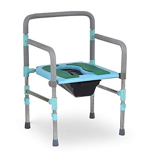 Yuany toiletstoel, nachtkastje/roestvrij staal oudere zwangere vrouw bad stoel/multifunctionele stoel/het kan verplaatsen hoogte wc stoel bad stoel stoel
