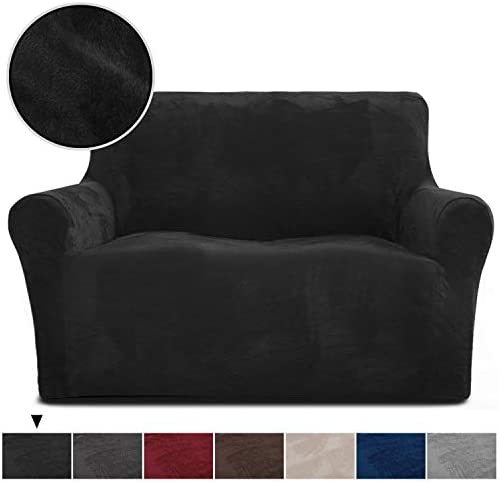 Best Rose Home Fashion RHF Velvet Loveseat Slipcover Slipcovers for Couches and Loveseats, Loveseat Cover