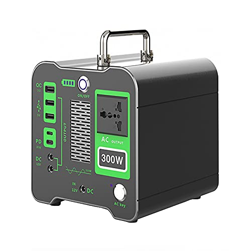 IYSI Estación de Energía Portátil de 320Wh / 86400mAh, Generador Solar de Onda Sinusoidal Pura de 300W Salida Inalámbrica USB-C AC/DC