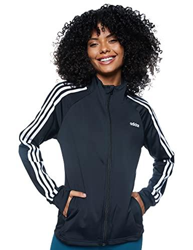 adidas Damen Trainingsjacke D2M 3-Streifen, Black/White, S, EI5529