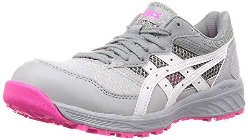 [アシックス] ワーキング 安全靴/作業靴 ウィンジョブ CP210 2E相当 JSAA A種先芯 耐滑ソール fuzeGEL搭載 ミッドグレー/ホワイト 22.5