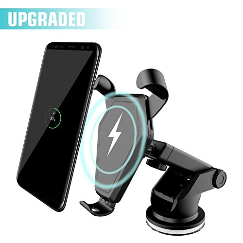Beanco Tech Wireless Car Charger, Qi Fast Charger Car Mount Air Vent Gravity Phone Holder Samsung Galaxy S8/S8+/S7 Edge/S6 Edge+, Standard Charger iPhone 8/8+/iPhone X All Qi-Enabled Devices