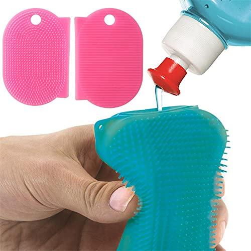 Juego de 2 esponjas de silicona que incluye 1 espátula antiarañazos + 1 esponja con depósito, para el hogar, vajilla, etc. Multiuso, duradero en el tiempo, ecológico y ecológico.