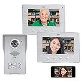 ELRO DV477IP2 Videoportero IP Wifi - 2 familias - con 2 pantallas a color de 7 pulgadas - Color Night Vision - vista en...