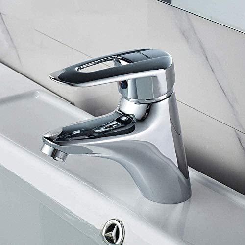 Grifo de cocina grifo clásico mezclador de agua fría y caliente lavabo de baño de una manija en el baño grifo de cromo montado en la cubierta