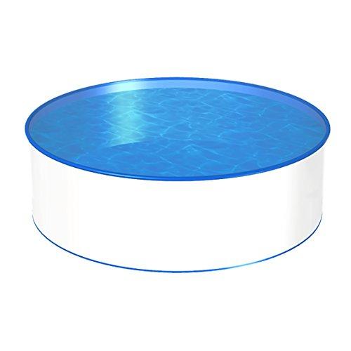 POWERHAUS24 MTH Schwimmbecken, rund, 4,00m, Tiefenauswahl, 0,6mm Stahlwand, Folie mit Keilbiese-1,20m