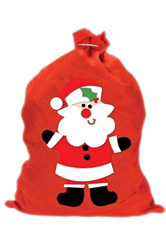 Robelli Red Christmas Santa 60cm x 50cm Santa Gift Present Sack