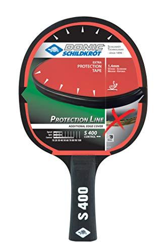 Donic-Schildkröt 703055 Protection Line S400 - Raqueta de Ping Pong con protección contra el pavimento, Esponja de 1,2 mm, Jade - ITTF