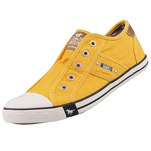 MUSTANG Damen 1099-401-6 Slip On Sneaker, Gelb (Gelb 6), 38 EU