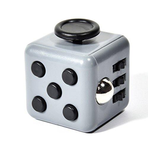 GOODS+GADGETS Anti-Stresswürfel Cube, Hand-Motorik Spielzeug, Konzentration und Anti-Stress-Würfel; Gadget gegen Nervosität und Stress; Grau