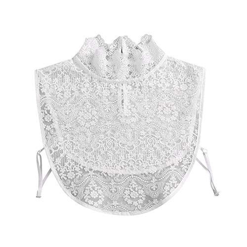 Yowablo Bluse Halbhemden Kragen Frauen Mode Spitze Gefälschter Kragen Abnehmbarer...