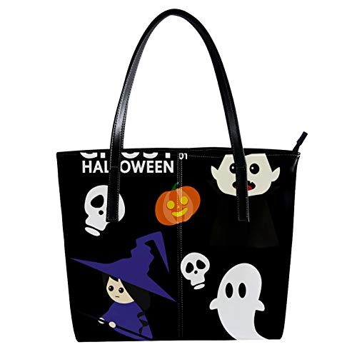Halloween Costom Party Women's PU Leather Fashion Handbag Top-Handle Shoulder Bags Totes Purses
