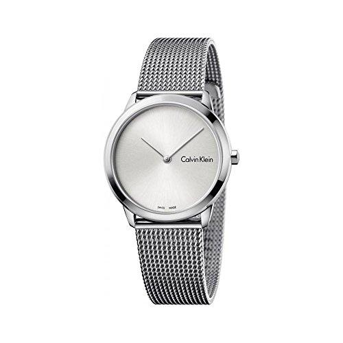 Calvin Klein Damen Analog Quarz Uhr mit Edelstahl Armband K3M221Y6