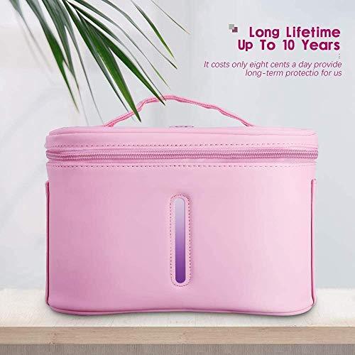 HUKOER Draagbare U-V Sterilizer Dis~Infection Bag Box,USB Oplaadbare LED U-V Desinfect-ion Tas voor Mobiele Telefoon Melkflessen/Tandenborstel/Beauty Tools/Sieraden/Ondergoed