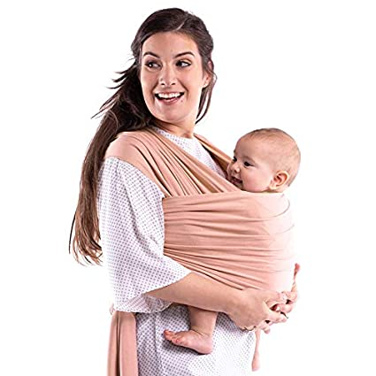 Boba Wrap Baby Carrier, Bloom Serenity Blend- Original Stretchy Infant Sling, Perfect for Newborn Babies and Children up to 35 lbs. Made with Viscose from Bamboo
