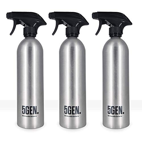 3-Pack Empty Aluminum Spray Bottles with Neck Ring 20 OZ