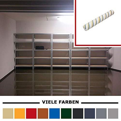 Komplett-Set Home Profis® HPBI-500 Epoxidharz Bodenbeschichtung Innen (25m²) – inkl. Beschichtungswalze – Garage Werkstatt Keller Badezimmer Bodenfarbe Fliesenfarbe (RAL 7016 Anthrazitgrau)