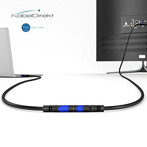 KabelDirekt – HDMI Verlängerungskabel – 2m (kompatibel mit HDMI 2.0a/b 2.0, 1.4a, 4K Ultra HD, 3D, Full HD, 1080p, HDR, ARC, Highspeed mit Ethernet, PS4, Xbox, HDTV) – TOP Series